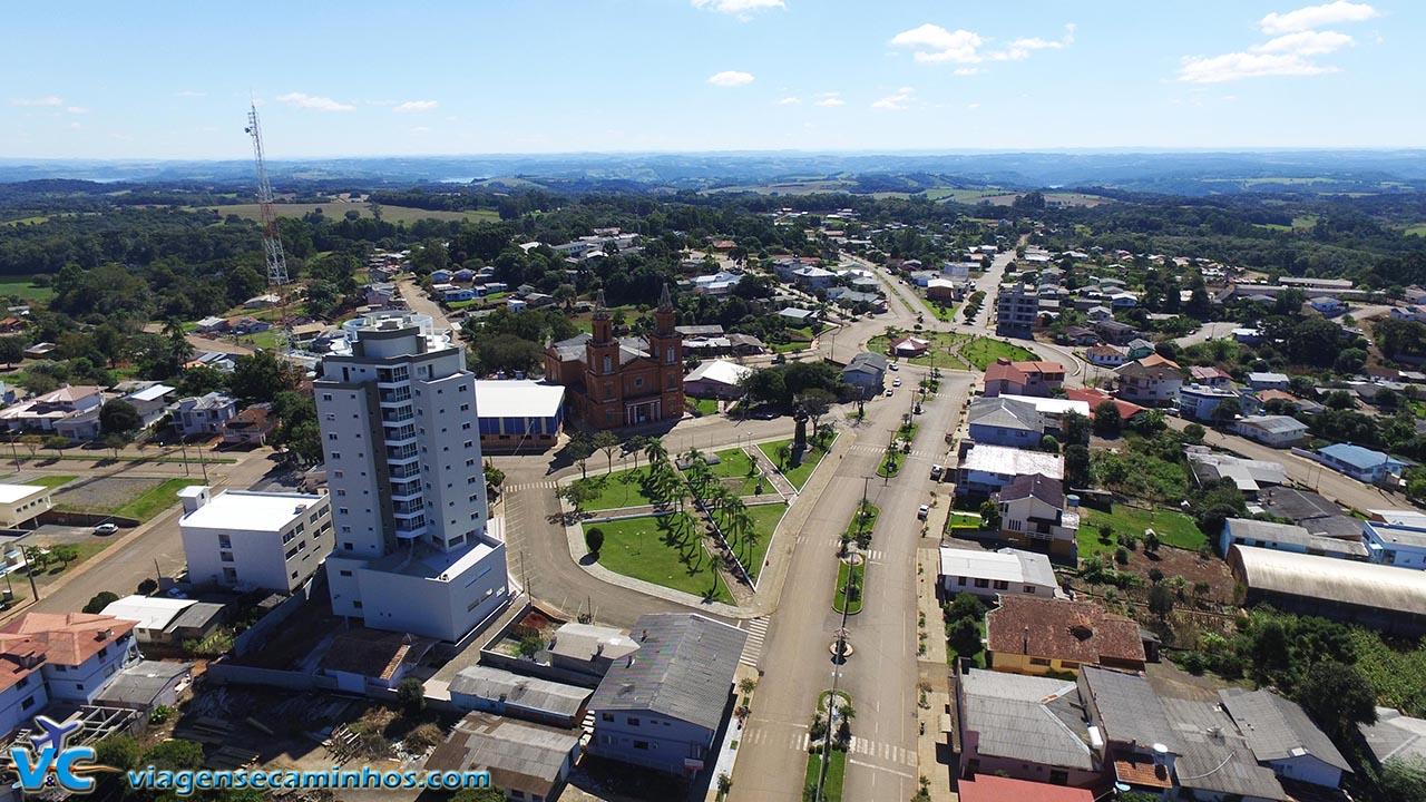 Vista aérea da cidade de Machadinho - RS