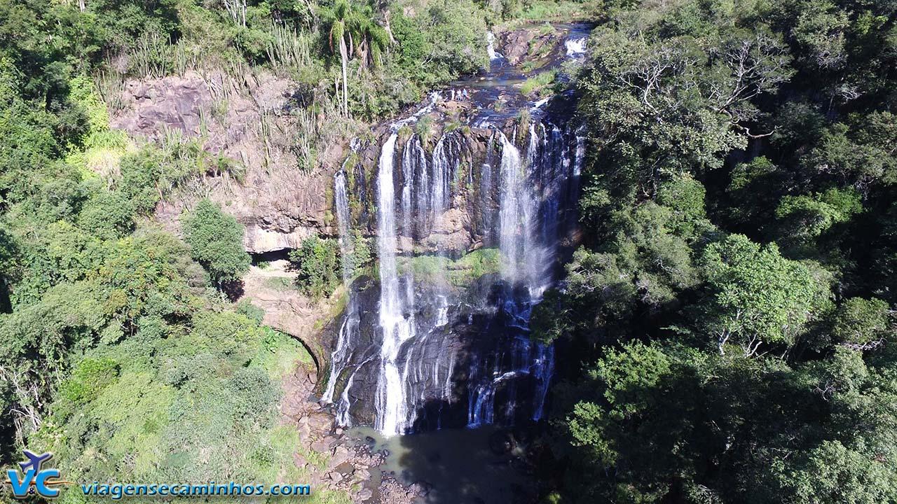 Vista aérea da Cascata do Tigre - Machadinho