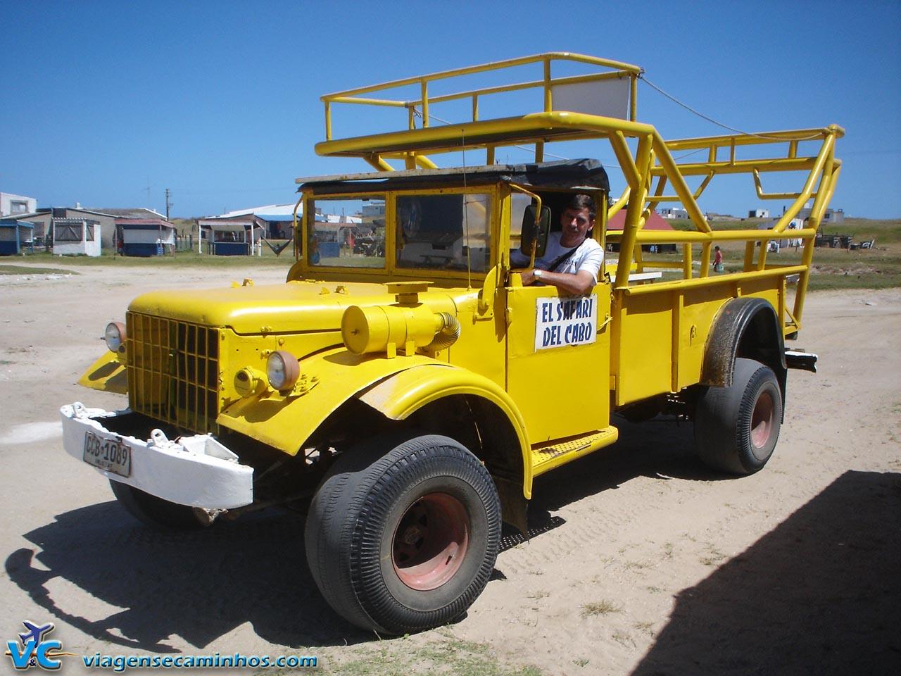 Veículos de transporte à Cabo Polonio - Uruguai