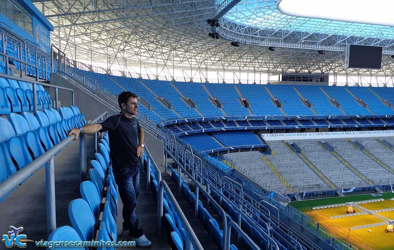 Cadeiras superiores da Arena do Grêmio