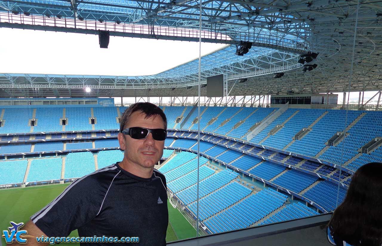 Cabine de imprensa da Arena do Grêmio