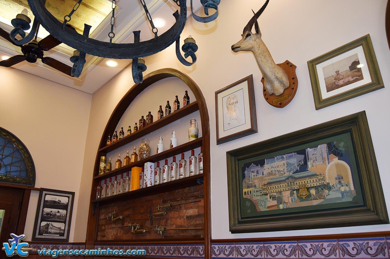 Decoração do restaurante Gambrinus
