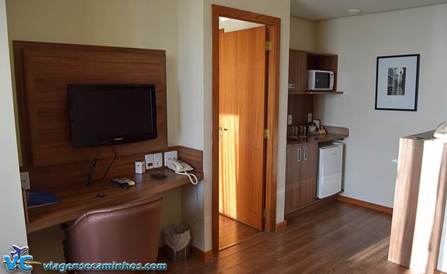 Área de cozinha do apartamento Quarto Família Deluxe