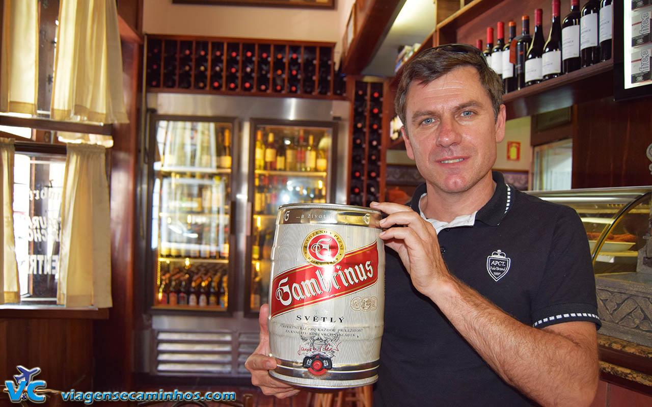 A famosa cerveja Gambrinus da República Checa