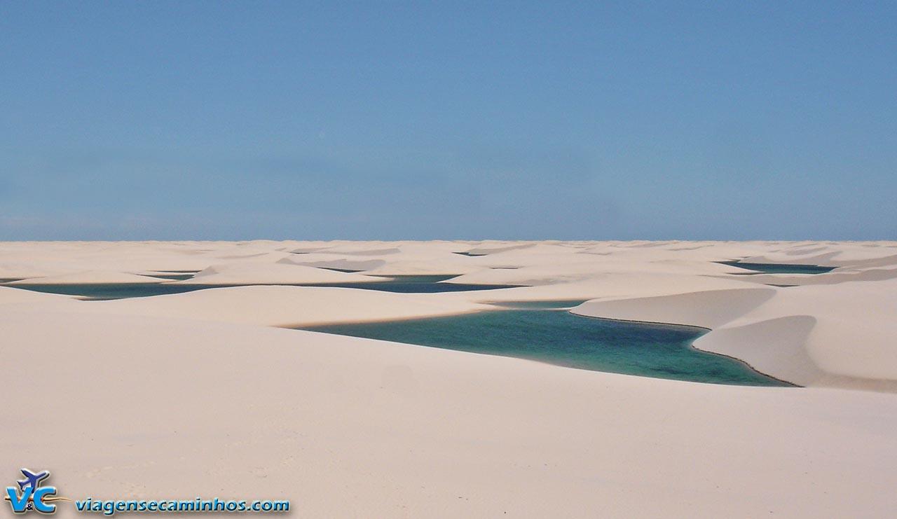 Deserto com lagoas - Lençóis Maranhenses