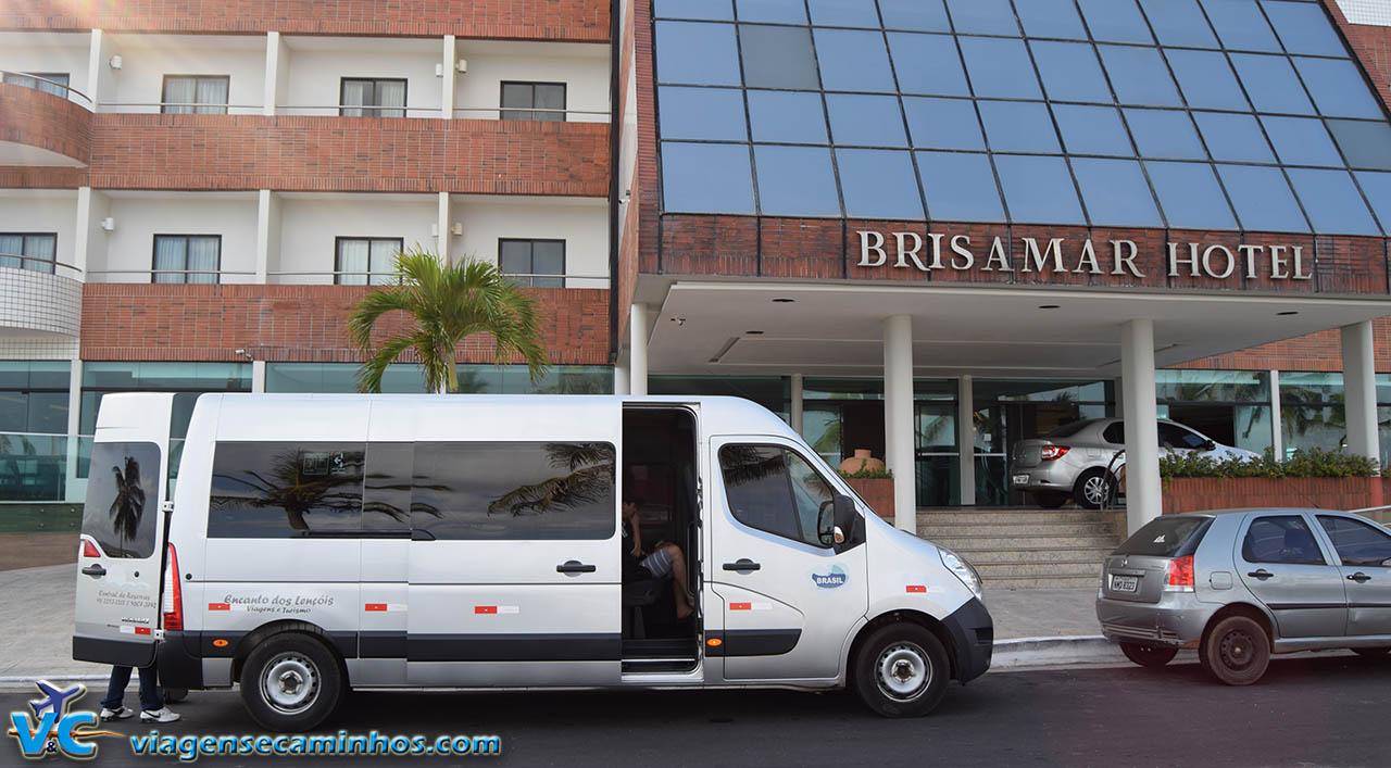 Van da GiConect nso buscando no Hotel Brisamar, em São Luís