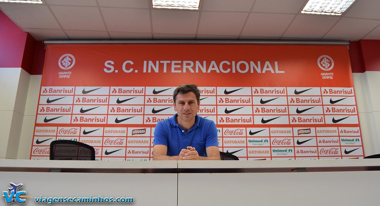 Sala de imprensa do estádio Beira Rio
