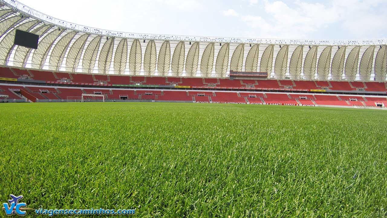 Gramado do estádio Beira Rio