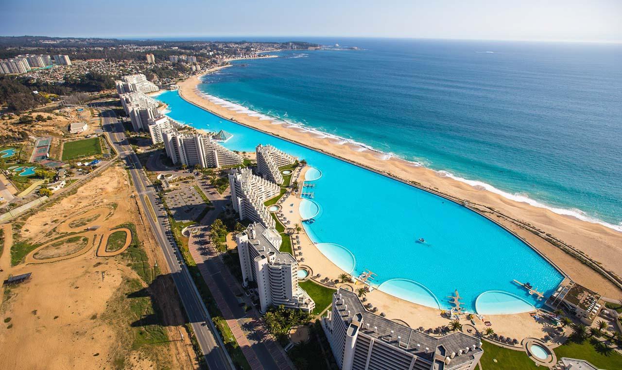 Maior piscina do mundo (vista aérea)