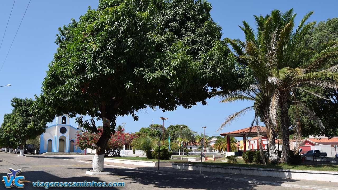 Praça central de Barreirinhas