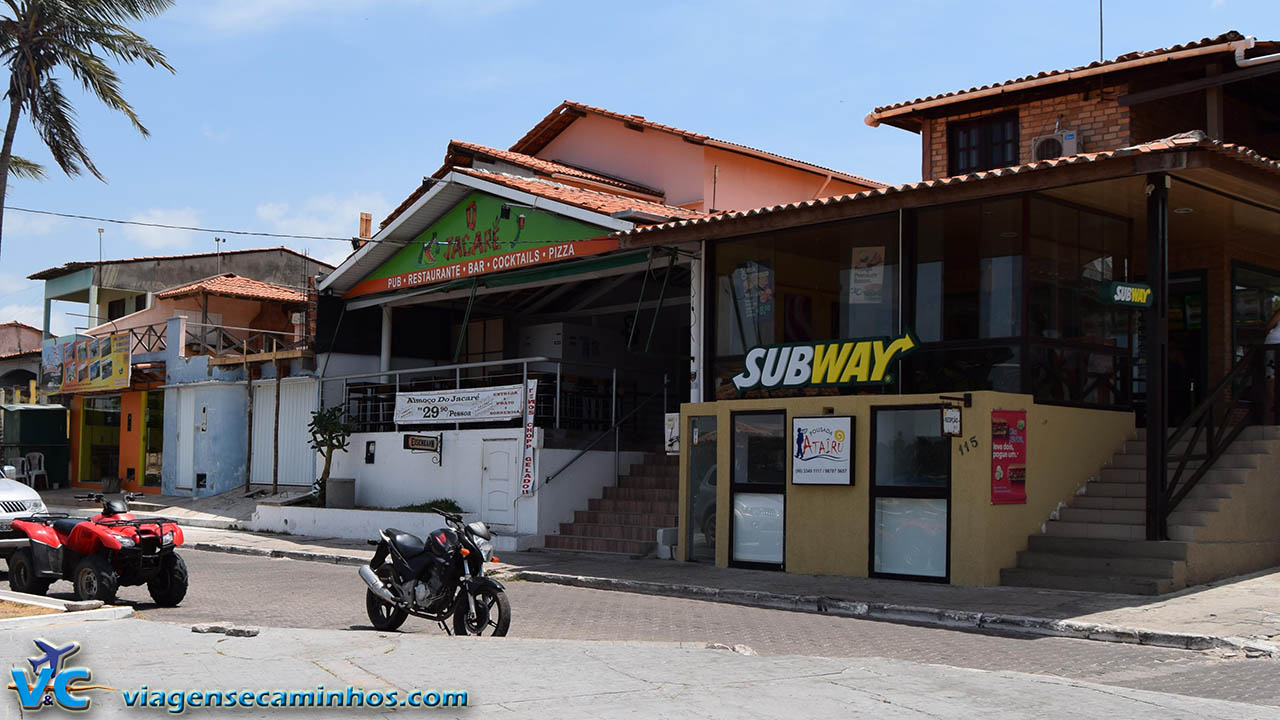Restaurantes na avenida Beira Rio
