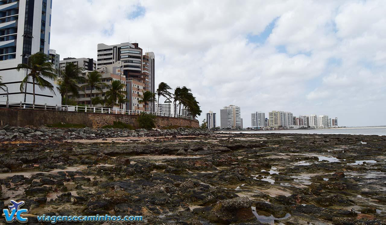 São Luís - Praia da ponta D'Areia na maré baixa