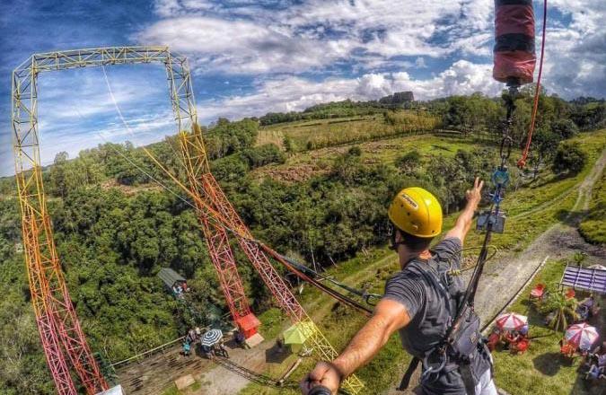 Pêndulo do Eco Parque Cia Aventura (imagem: divulgação)