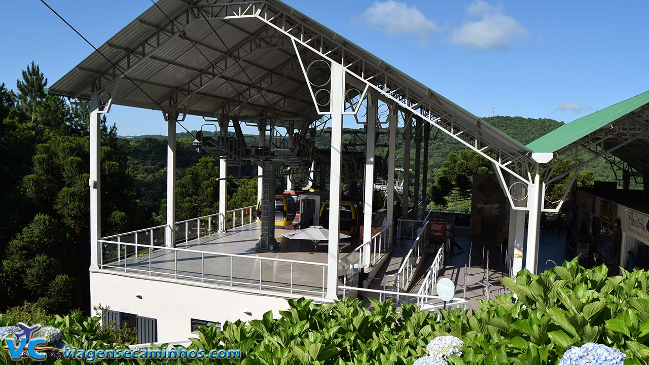 Estação Central dos Bondinhos aéreos Parque da Serra
