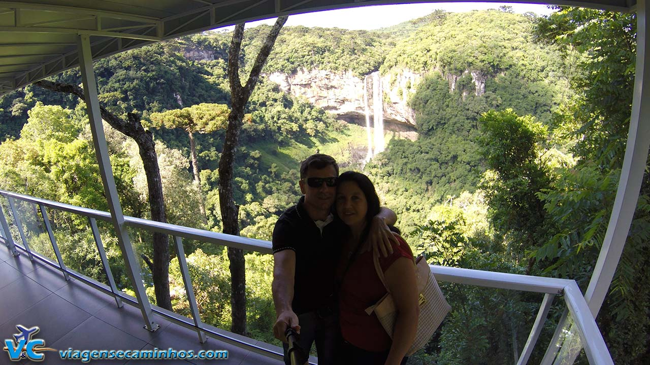 Mirante da Cascata do Caracol - Bondinhos aéreos Parque da Serra