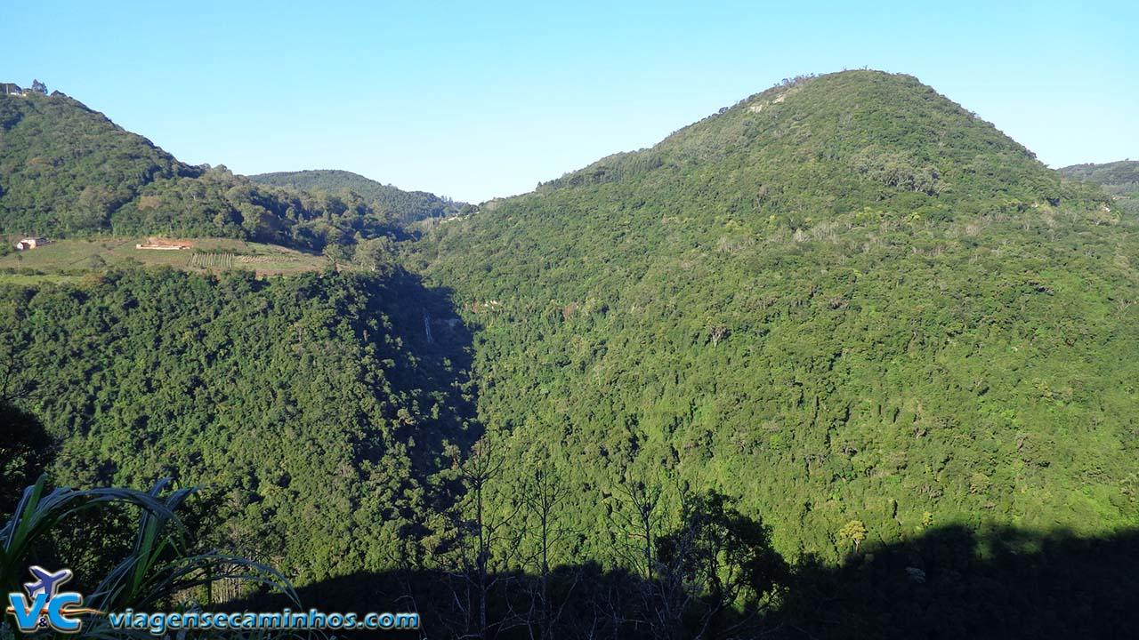 Montanhas no caminho entre Caxias do Sul e Gramado