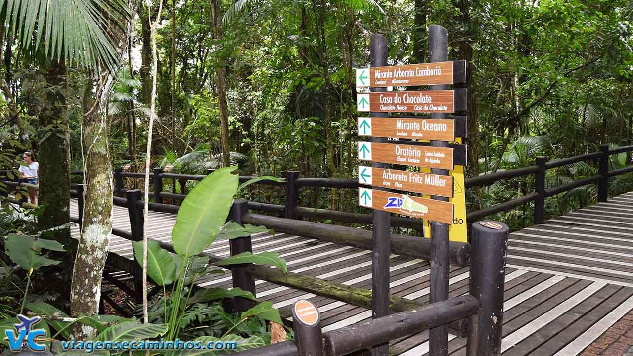 Trilhas do parque Unipraias
