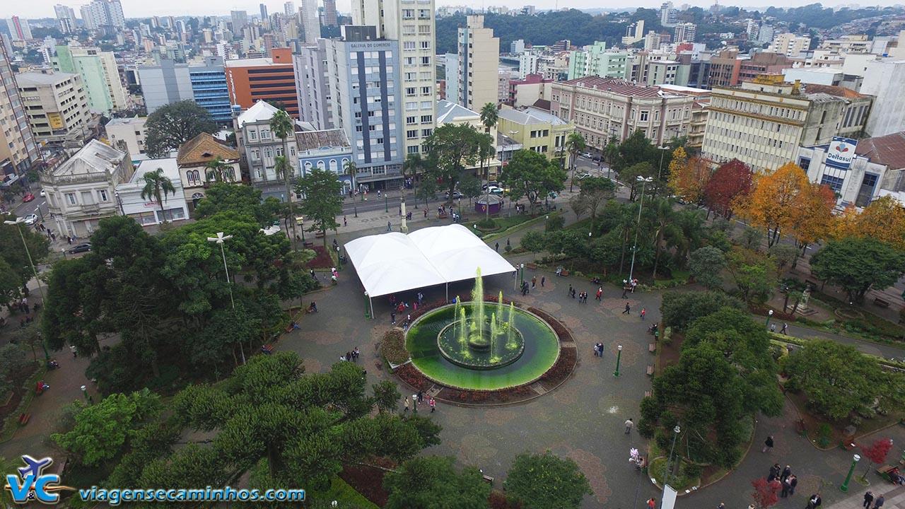Voo no centro de Caxias do Sul - RS