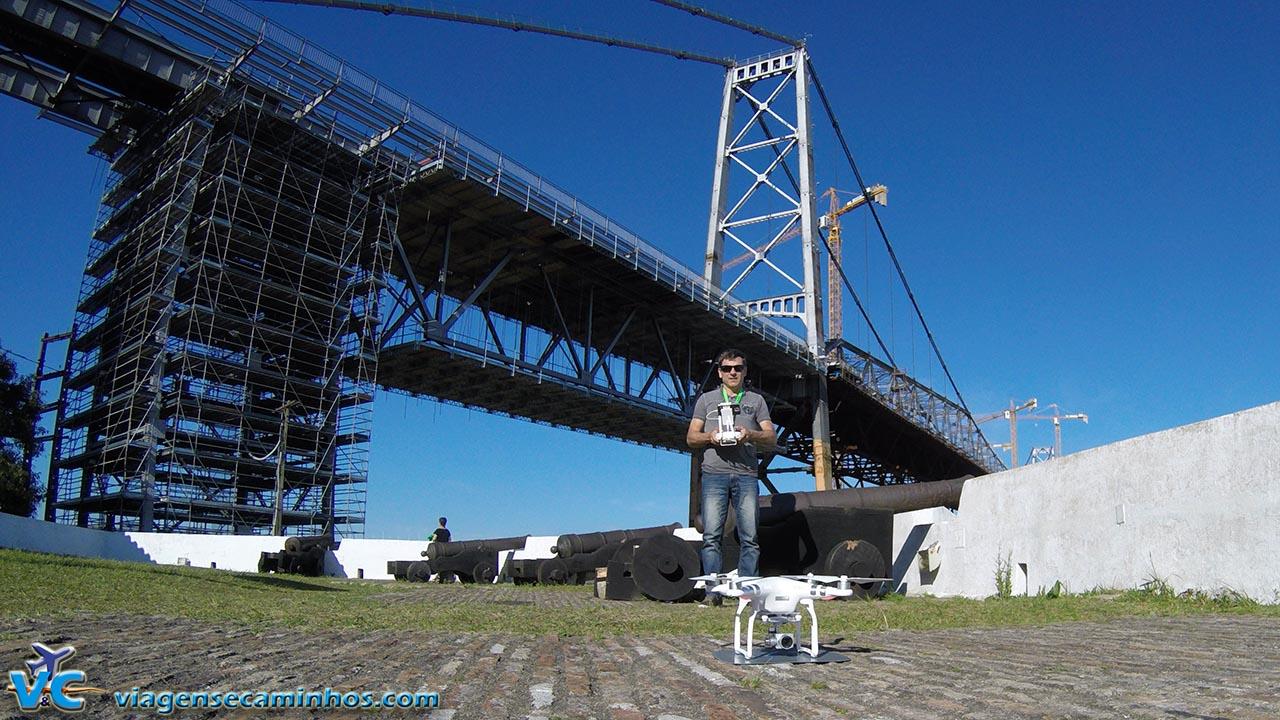 Preparando para o voo, em Florianópolis