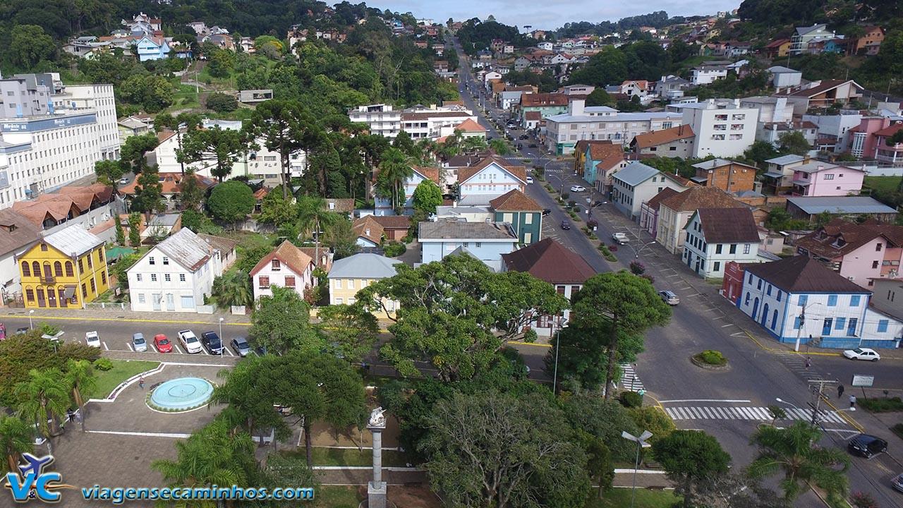 Vista aérea (drone) Centro histórico de Antônio Prado